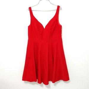 Grace Karin V-neck Red Mini Dress Extra Large